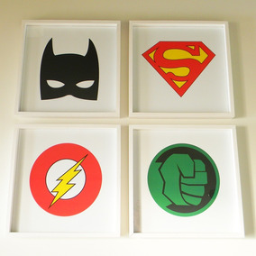 Cuadros Niños Superheroes - Decoración para el Hogar en Mercado ... 2b3a4f23caa