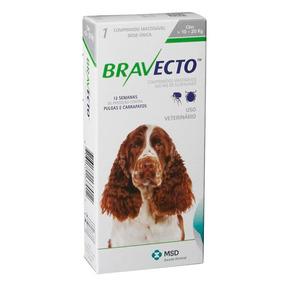 Bravecto Antipulgas E Carr. Cães 10 A 20kg - Val. Julho 2019