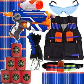 Super Kit Arma Nerf Firestrike + Colete+ Acessório Brinquedo