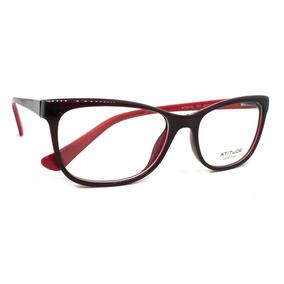ca9a6f2e45094 Óculos De Grau Atitude At4070l Acetato (preto vermelho T01,