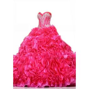 Vestido Debutante Festa 15 Anos 1217 Noivas Promoção 05 Rosa