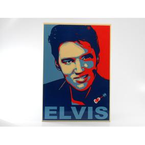 Placa Decorativa Aço Elvis .