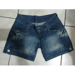 Shorts Jeans Estonado Jezzian Fem. 38 Cintura 80 Cms- Usada