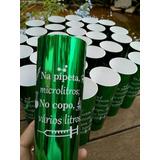20 Copos Farmácia Formatura Verde Metalizado C/ Nome
