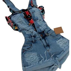 Jeans Jardineira *sem Cropped Temos Retiradas Em Sp
