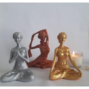 Yogas Iogas Trio - Decoracao Casa Estátua Enfeite Ioga Yoga