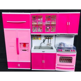 Kit Cozinha Infantil Com Luz E Som 3x1