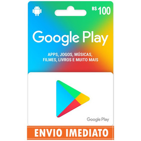Cartão Google Play Store Gift Card R$100 Reais Android Br