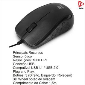Kit 10 Mouse Óptico Usb Ms-25bk Preto C3tech Barato