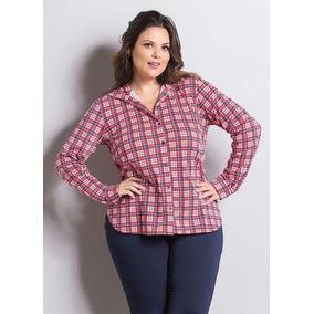 Camisa Casual Feminino Rosa escuro no Mercado Livre Brasil d1c94592d22a0