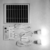 Panel Solar 3w 2focos 1w Y 2w Super Led ,charging Port 5v2a