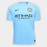 Camisa Manchester City 17/18 S/nº Torcedor Nike Masculina -
