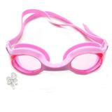 Óculos Natação Adulto Proteção Uv Protetor Ouvido Silicone 832b19e334