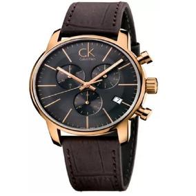 Reloj Calvin Klein K2g276g3 Cronógrafo Oro Rosa/café Hombre