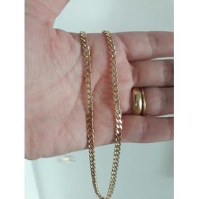 Corrente 15 Microns Ouro 18k 50cm Unissex