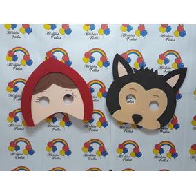10 Mascaras Eva Chapeuzinho Vermelho E Lobo Mau