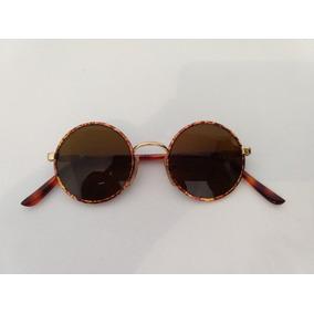 92da2a4a4bd7d Oculos Redondo Hippie De Sol - Óculos no Mercado Livre Brasil