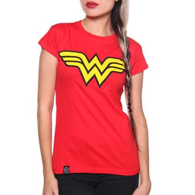 Blusa Logo Wonder Woman Roja Original Dc Comics $230