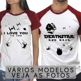 6c44b6758 Camiseta Casal Namorado - Camisetas Manga Curta no Mercado Livre Brasil