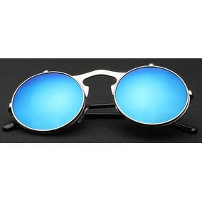 9988f17bd0fef Oculos Redondo Espelhado Chic Amarelo - Óculos no Mercado Livre Brasil