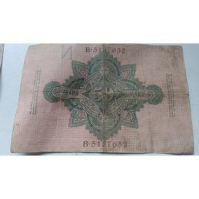 Nota Bancaria 50 Mark Alemã 1910 Império Alemão Cedula Rara