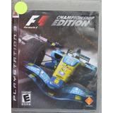 F1 Formula 1 Championship Edition Ps3 Play Magic