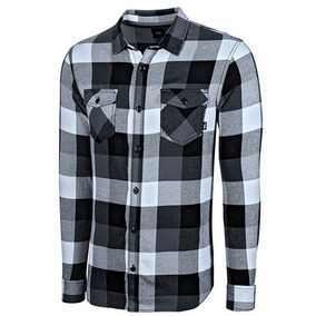 Camisa Cuadros Hombre Vans Vn-000jogbht Negro Manga Larga T3