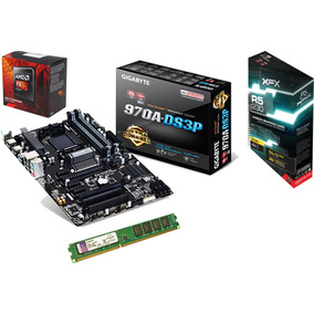Kit Profissional Amd Fx8370 - 32gb Ram Ddr3 - Vga R5 Xfx 2gb