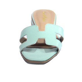 Promoção Rasteira Couro Chinelo Sandalia Branco Preto Azul A