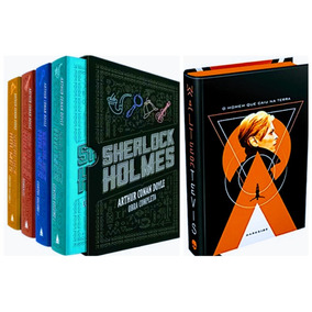 Box Livro Sherlock Holmes Obra Completa + Homem Caiu Terra