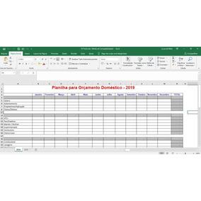 Planilha De Orçamento Financeiro/doméstico