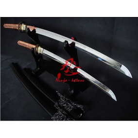 Espada Katana Samurai Wakizashi Set Afiada Funcional Top
