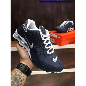 c14dbc34da Tênis Nike Shox Nz Branco E Azul Marinho - Tênis no Mercado Livre Brasil
