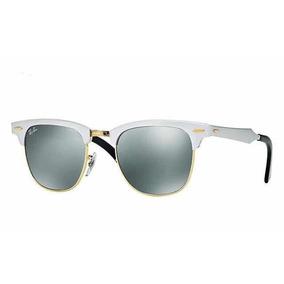 Ray Ban Clubmaster Aluminium Espelhado Dourado - Óculos De Sol no ... 0fec27007b