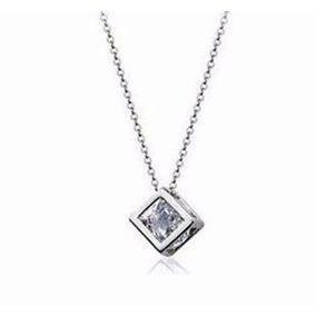 Dije Cristal Swarovski Zirconia Cubo Diamante Envio Gratis