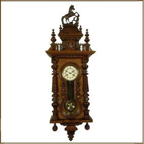 b93a2062875 Relógio Parede Junghans Germany Cavalinho Temático Raphael