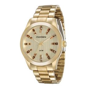 Relógio Dourado Feminino Mondaine 78663lpmvda1-l3/4