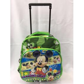 Mochila Escolar Infantil Rodinhas Pequena Micky Mouse Cy173