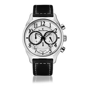 62a8d5e7e5f Relógio Jean Vernier Masculino Jv5204 Cronógrafo Prateado