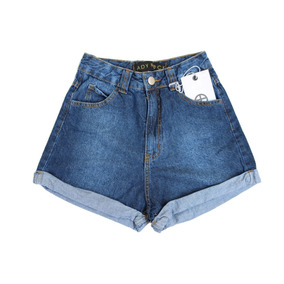 Short Mom Jeans Lady Rock Azul Escuro