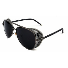 bb270edcd3b05 Óculos Unissex Aviador Azul Com Strass Lateral Cristian Dior ...