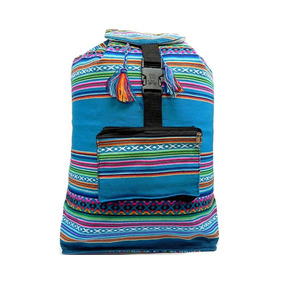 Mia Jewel Shop Mochila Grande Peruana Playa Tribal Turquesa 637270b8802