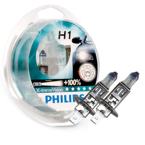 Lampada H1 Philips X-treme Vision 3350k 55w 100% Mais Visão