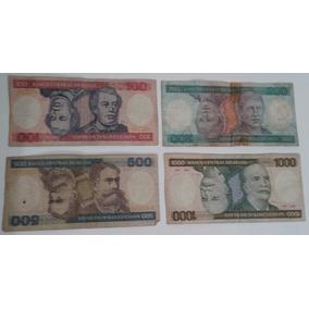 Dinheiro Antigo, Coleção, 4 Cédulas + Frete Pago.