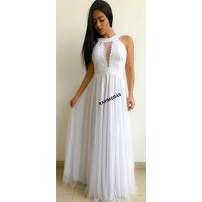 5d1089747 Vestido De Noiva Civil Cetim Longo - Vestidos no Mercado Livre Brasil