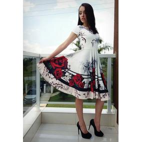 Vestido Princesa Moda Evangélica Gode Rodado Suplex Evase