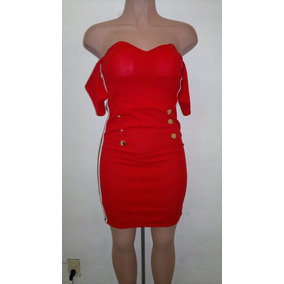 f779c08db3 Vestido De Tafeta Rojo Quemado Strapless Vestidos Noche - Vestidos ...