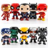 Figuras Tipo Funko Pop Liga De La Justicia Avengers X5