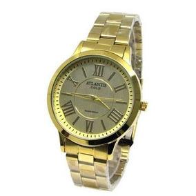 cffcc79bd4b Relogio Atlantis Feminino Dourado - Relógio Atlantis Feminino em ...