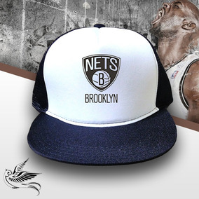Boné Nets Brooklyn Trucker Snapback Aba Reta Preto c1e5edfa2cd